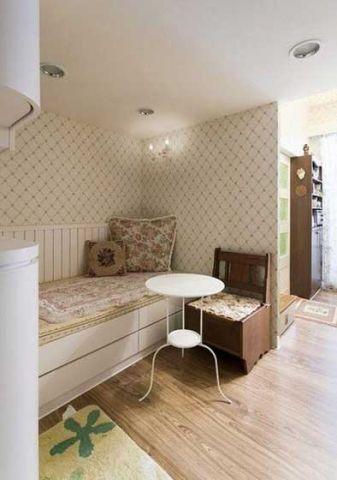 卧室床田园风格装潢设计图片