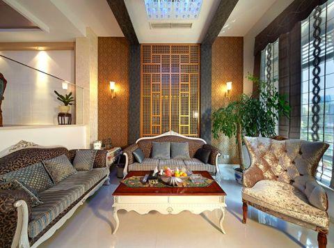 新中式风格别墅300平米装修