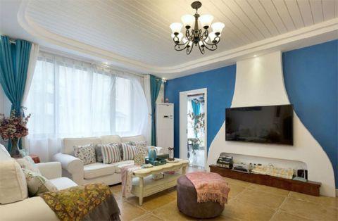 地中海风格三居室84平米装修