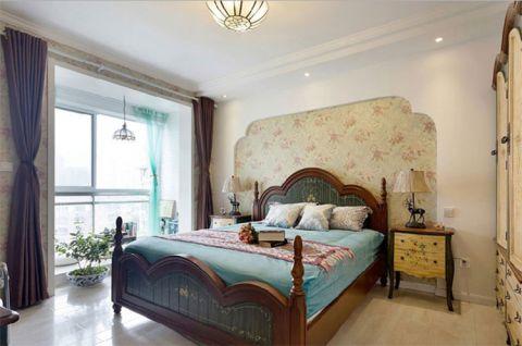 地中海卧室床装饰图