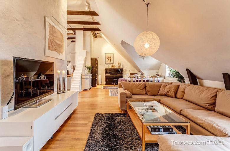 舒适简洁北欧风阁楼装修 巧妙设计效果好美