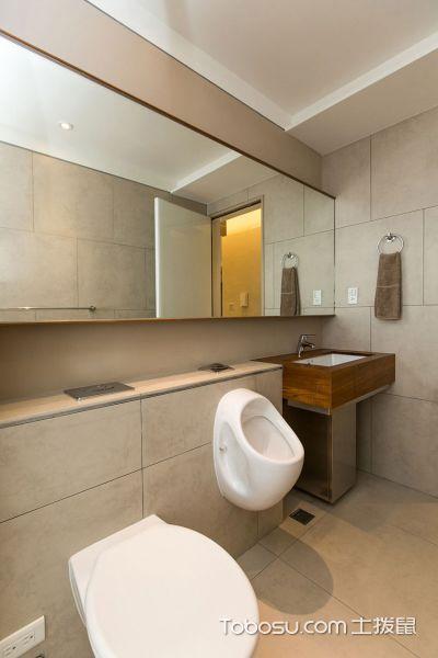 2019现代简约卫生间装修图片 2019现代简约地板砖设计图片
