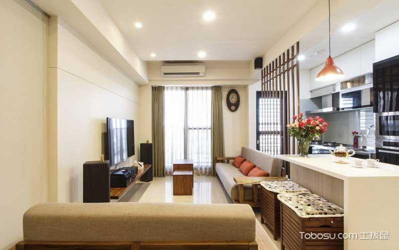 客厅黄色细节日式风格装饰设计图片