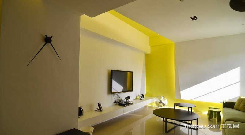 时尚现代简约风 黄色两居室让人耳目一新