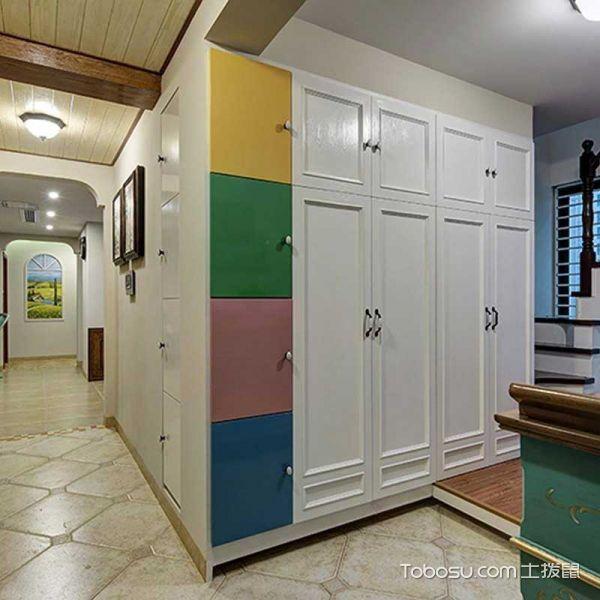 2019美式起居室装修设计 2019美式门厅装修效果图片