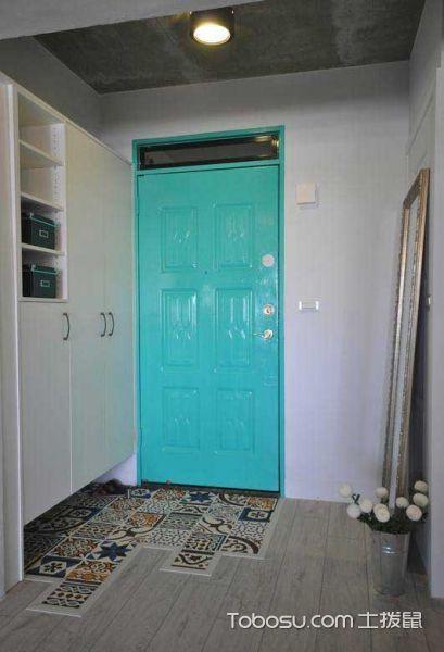 2018混搭起居室装修设计 2018混搭门厅装修效果图片