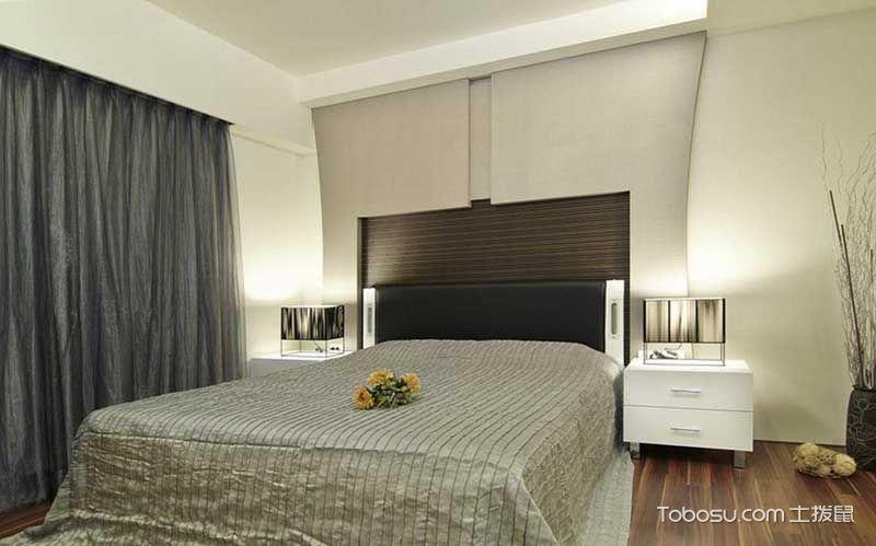 卧室黑色床现代简约风格装修效果图