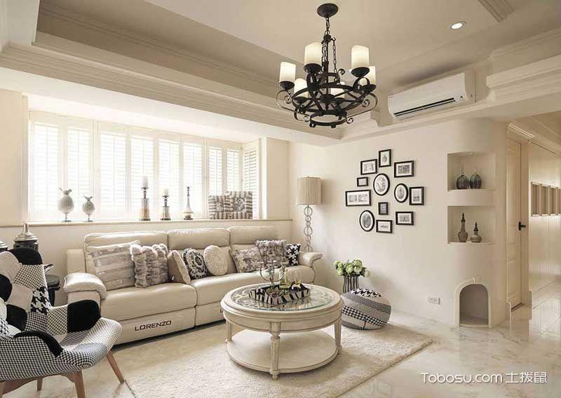 三居室130平米美式风格设计图