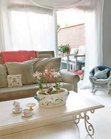 清新素丽客厅韩式室内装饰