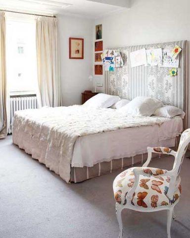 干净白色床u乐娱乐平台实景图