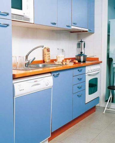 厨房一字型橱柜田园装修方案