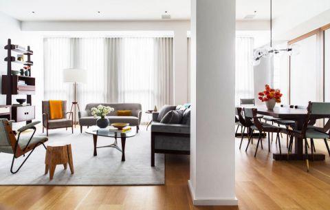 公寓77平米混搭风格装修