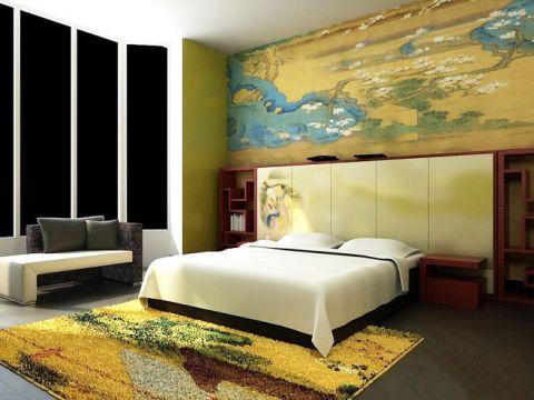 2019中式古典卧室装修设计图片 2019中式古典背景墙装饰设计