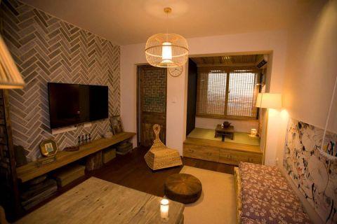 68平米一居室混搭风格室内装修设计
