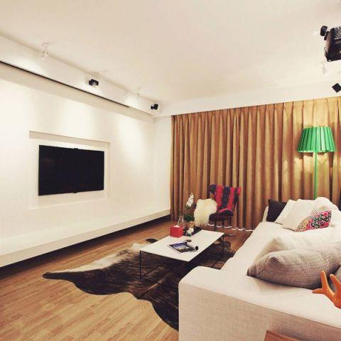 风雅白色电视背景墙装潢设计图片