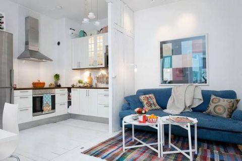 北欧风格公寓60平米装修实景图片