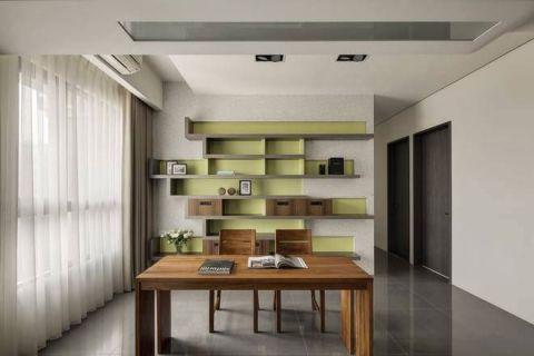 温暖黄色书房装修效果图欣赏
