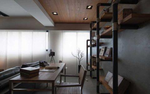 书房黄色书桌装修设计图片