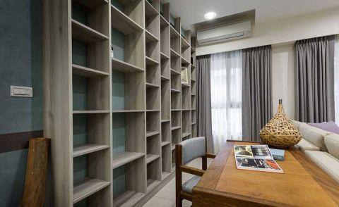 书房灰色书架装饰效果图
