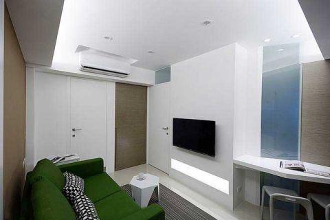 格调简约绿色沙发室内装饰