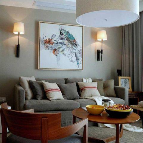 美式客厅沙发装修案例效果图