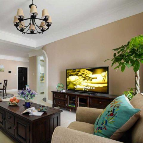 美式风格三居室99平米装饰设计图片