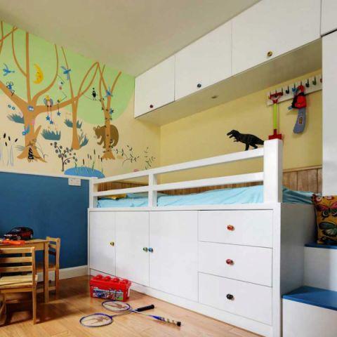 儿童房床美式案例图