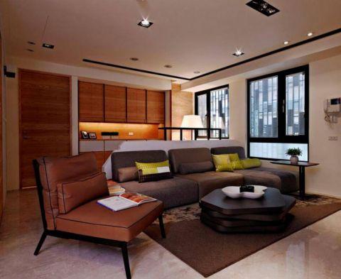 简中风格公寓100平米装饰实景图