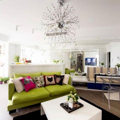 后现代风格公寓115平米装修实景图片