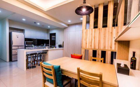 混搭风格三居室101平米家装设计