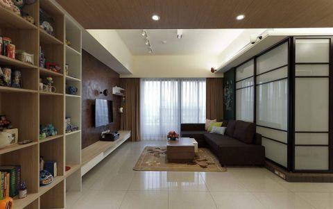 三居室105平米混搭风格室内效果图