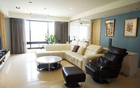 103平米三居室现代风格室内装修图片