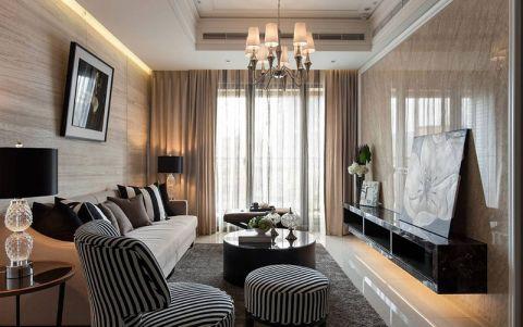 二居室91平米现代欧式风格装修