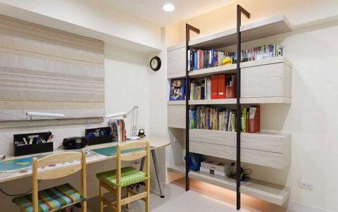 书房黄色书桌装饰设计图片