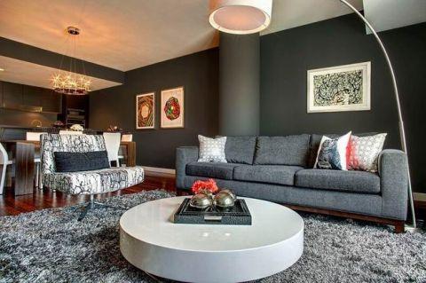 现代风格二居室120平米装修