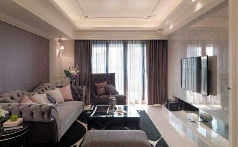 套房113平米简欧风格装修