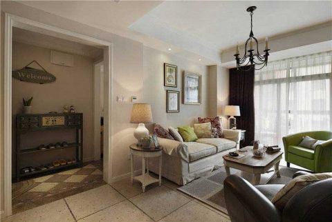 117平米二居室美式风格案例图