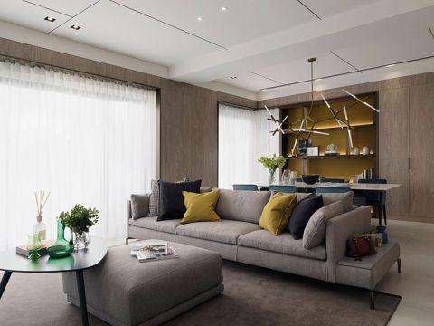 现代简约风格二居室138平米装潢效果图