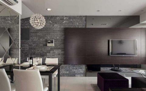 欧式风格三居室90平米装饰实景图