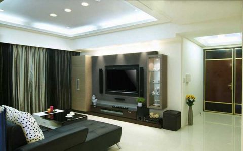 二居室94平米现代简约风格装潢实景图片