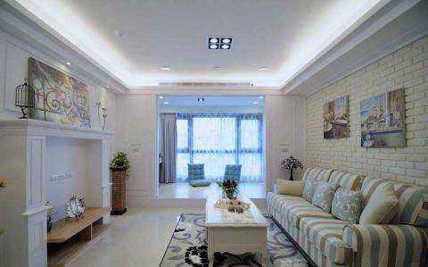 美式风格三居室108平米室内装饰