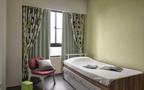 北欧卧室单人床装修美图