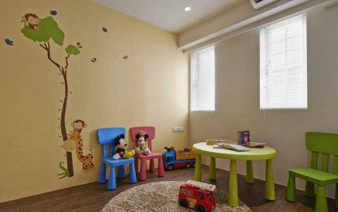 豪华儿童房背景墙装修图片