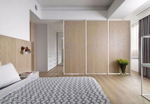 现代简约卧室背景墙单人床设计图片