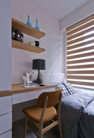 卧室书桌北欧单人床构造图