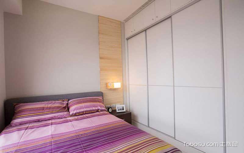 卧室白色衣柜北欧风格效果图