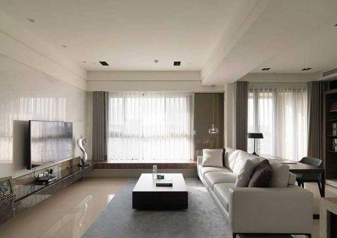 112平米二居室现代简约风格装修图片