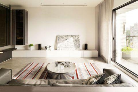 二居室86平米简约风格装潢实景图片