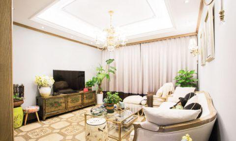 新古典风格二居室104平米室内装饰