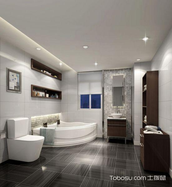 现代简约风格套房80平米装修设计图片